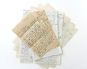 Handwritten Letters 1940s Lot of 10 Pages