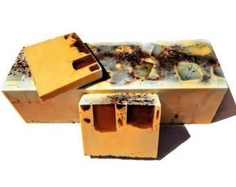 3.5 LB Soap Loaf - Mexican Cocoa Coffee Scrub Soap - Coffee Soap - Chocolate Soap -Vegan Soap - Handmade Soap- Soap Gift - Soap Favors