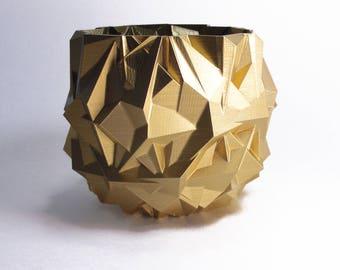 Gold Planter Modern Gold Decor Gold Modernist Planter Golden Bowl Abstract  Gold Pot Metallic Gold Home