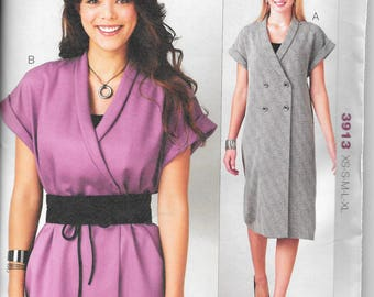 Kwik Sew 3913 Double Breasted Dress Tunic Top Belt multi size XS to XL UNCUT