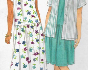 Simplicity 7574 - Women's Loose fitting Jacket and Dress - Sizes 18W - 28W - UNCUT Sewing Pattern