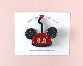 Mickey Mouse Ears, Glitter Mickey Mouse Old Fashion Ears, Disney Inspired, Giddy Up and Grow