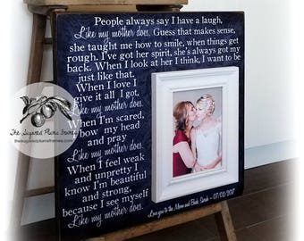 Mother Of The Bride Gift, Like My Mother Does, Mom Wedding Gift, Wedding Thank You Gift, Parents Wedding Gift, Wedding Frame 16x16