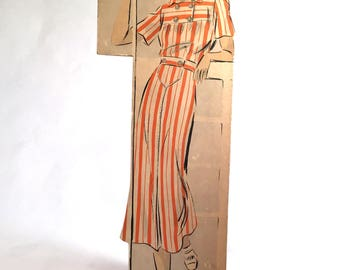 1930's Counter Display Vogue Pattern #7265 Advertising Stand-up