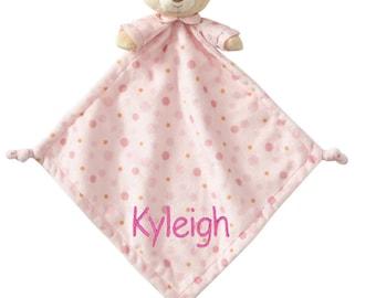 Personalized SUPER Soft Pink Teddy Bear Lovie, Snuggly Security Blankie