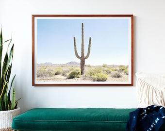 Desert Wall Art, Large Photography, Framed Print, Cactus, Southwestern, Desert Home Decor, Large Wall Art, Large Photography