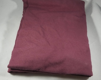 Maroon Brown Hand Dyed Organic Cotton Jersey Knit Fabric Remnant Made in the USA