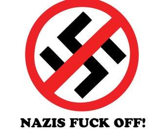 Anti-Trump No 45 Anti-Fascist red and black vinyl sticker