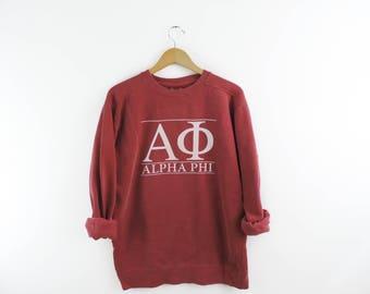 New Alpha Phi Comfort Colors Stripe Crewneck Sweatshirt // Size Small-3XL