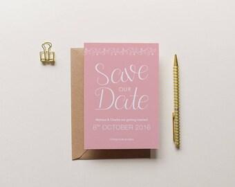 Charlotte - Elegant Floral Save the Date | Printed Save the Date | Floral Invitation | Floral Wedding | Bespoke Invite