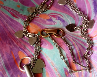 Hearts and Teeth Assemblage Necklace