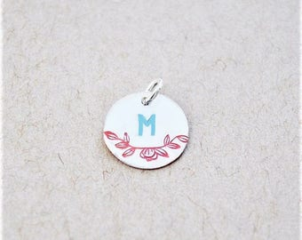 Vintage Style Sterling Silver Letter Stamped Initial - Charm Only