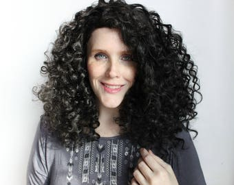 Lace Front wig | Black wig, Black Lace wig | Curly wig, Lace Front wig, Long wig | Winter's Eve