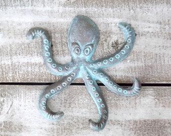 Octopus Hook~Coastal Beach Decor~Sea Life~Nursery Wall Decor~Beach Decor~Octopus Wall Hook