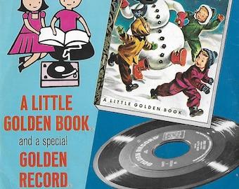 1950's  A Little Golden Book- Golden 45 Record - Christmas - Frosty The Snow Man