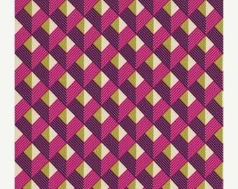 SALE 30% Off - Chevron in Lavender PWJD074 - BUNGALOW by Joel Dewberry - Free Spirit Fabric - - By the Yard