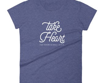 "Women's short sleeve ""Take Heart"" super soft t-shirt"