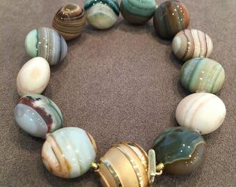 Saturn Chalcedony bracelet