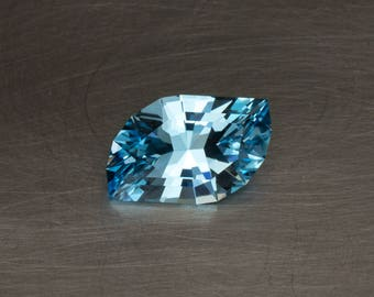 Sky Blue Topaz Natural Loose Creative Modern Designer Freeform Leaf Cut Gemstone