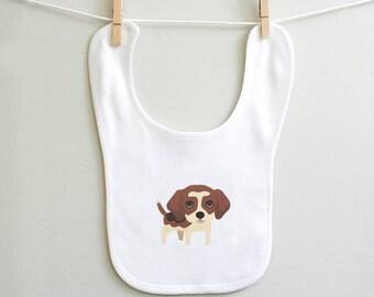 Baby boy bib, beagle baby burp bib, beagle baby bib, unique baby gift