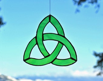 Triquetra Stained Glass Trinity Knot