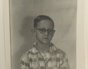 "Vintage Photo ""Jacob is Sad"" Snapshot Antique Black & White Photograph Paper Found Ephemera Vernacular Interior Design Mood - 90"