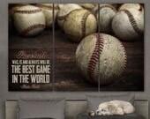 Baseball decor for Boys Room, Baseball nursery art canvas, Baseball teen room decor, Baseball canvas, Baseball quote canvas, Baseball art