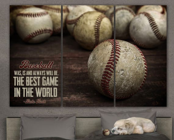 Baseball Decor For Boys Room Nursery Art Canvas