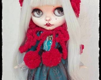 RED RIDING HOOD Blythe custom doll by Antique Shop Dolls