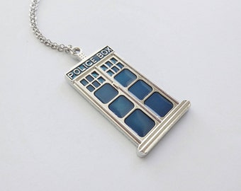 Police Box Necklace, Tardis, Phone Booth, Telephone, Royal Blue, Doctor Who, Phone Box, Phone Booth, Superman Character, Silver Jewelry