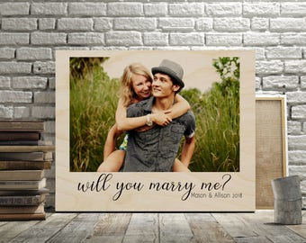 Personalized Will You Marry Me? Sign on Wood, Custom Proposal Sign, Always Love You Sign, Wedding Sign