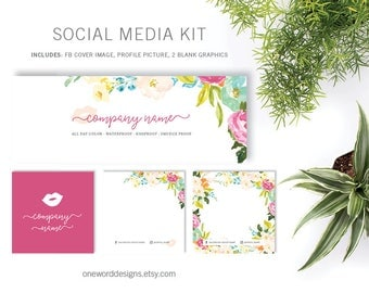 Watercolor Spring Floral LipSense - Social Media Kit