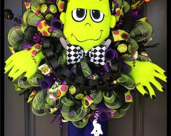 Frankenstein Whimsical Wreath