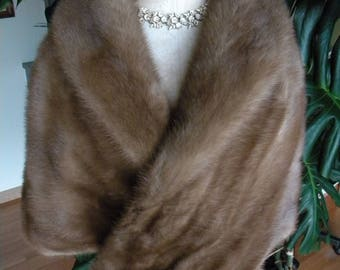 Thick and lush real mink fur stole / cape / wrap / wedding