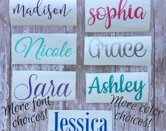 Vinyl Decal - Name Decal  - Vinyl Name Decal - Personalized Vinyl Decal - Custom Vinyl Decal