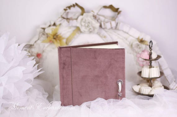 Saint Valentin Guest book Note book secret book or guest book velvet