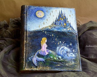 Sea wedding guest book, Beach Wedding guest book, Fairy Mermaid diary, Castle, Mermaid wedding, Once upon a time,  Fairy Tale Guest book