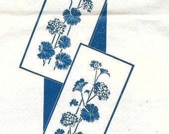 Geranium Transfer Iron On Motif Pattern Vintage Cross Stitch Embroidery 1950s Mail Order Laura Wheeler # 786