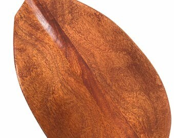 "Blonde Outrigger Koa Paddle 60"" Straight Shaft - Steersman Design Made In Hawaii - Commemorative Gift 