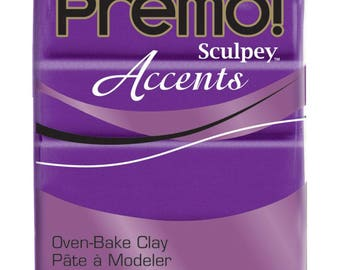 PURPLE PEARL Premo Sculpey Accents Polymer Clay