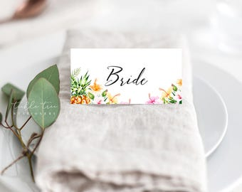 Place Cards/Reception Cards/Escort Cards - Sweet Tropics (Style 13757)