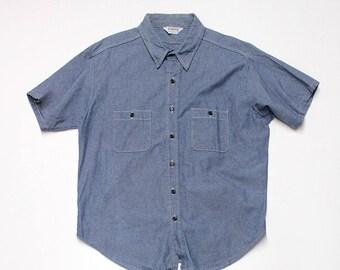 Short Sleeve Chambray Work Shirt