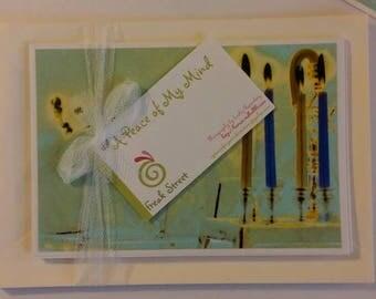 Chanukkah Cards, Chanukkah Candles, Holiday Cards, Greeting Cards, Hanukkah Cards, Holiday Candles, Holiday Lights