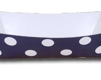 72 Colors - Polka Dot Paper Food Trays - Set of 12