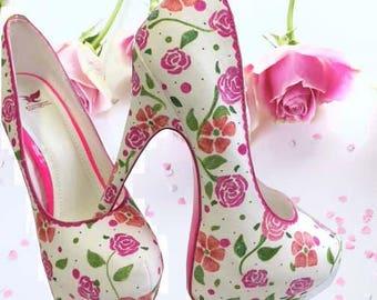 Vintage Rose High Heel Pumps