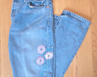 Hand Embroidered Jeans