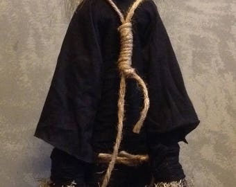 Curse Doll / Hanging or Standing Curse Doll / semi posable / Handmade