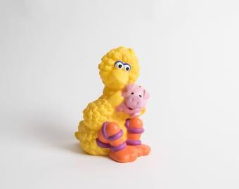 Vintage 1990s Sesame Street Big Bird Plastic Piggy Bank Figurine Collectible