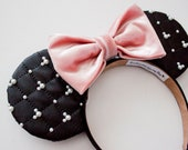 Black Mickey Ears / Classy Mickey Mouse Ears / Disney Ears / Disney Mouse Ears / Minnie Mouse Ears / Minnie Ears / Gift for her / Girlfriend