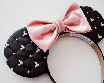 Black Mickey Ears / Classy Mickey Mouse Ears / Disney Ears / Disney Mouse Ears / Minnie Mouse Ears / Minnie Ears / Gift for her
